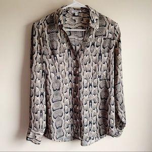 Express Portofino Shirt Snakeskin Career Blouse